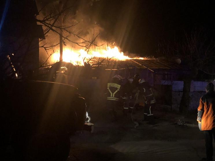 В Бердянске ночью горел дом…