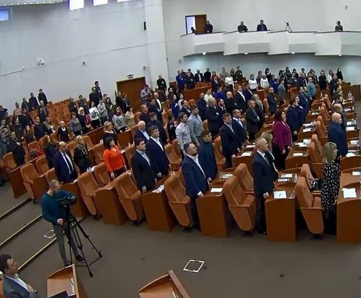 Мэр Днепра Филатов на сессии горсовета п…