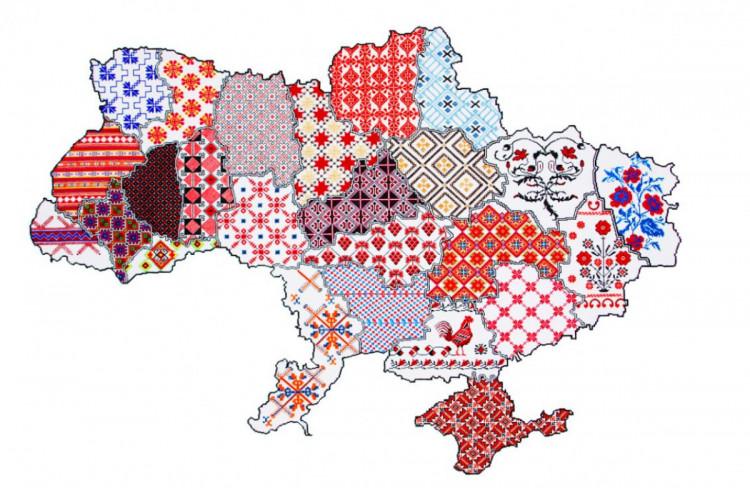 вишиванка - карта україни