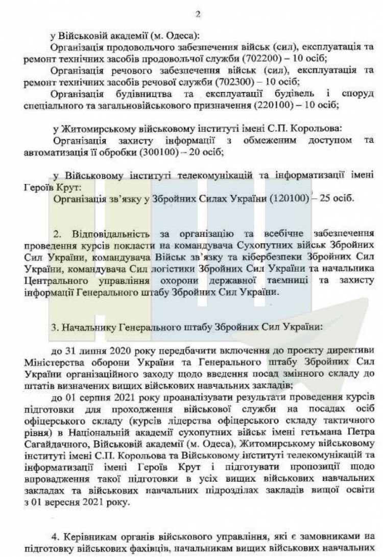 Наказ Міністерства оборони №246 від 3 липня 2020