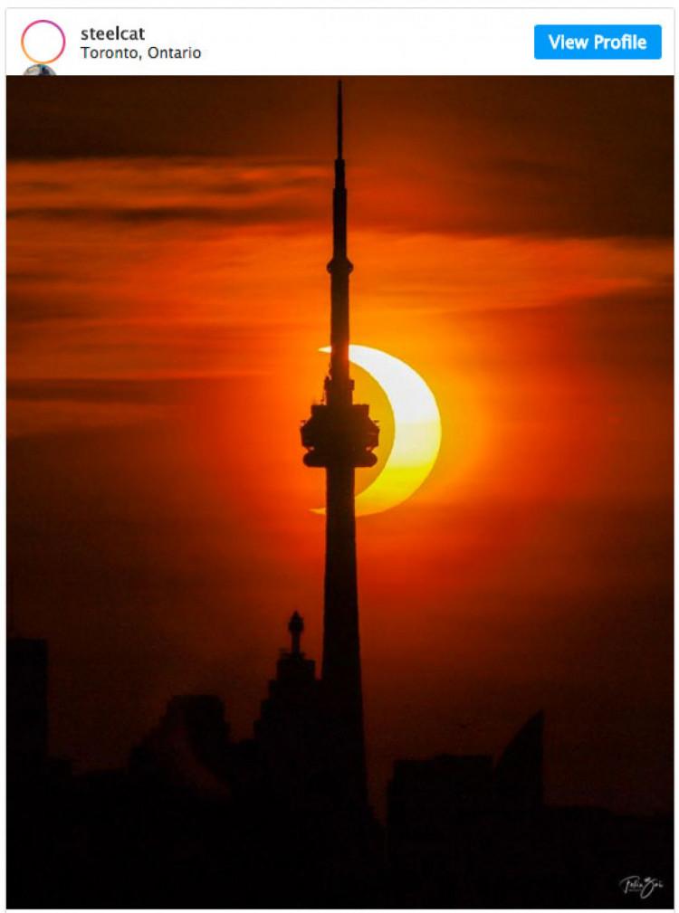 сонячне затемнення в торонто